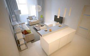 małe nowoczesne mieszkanie